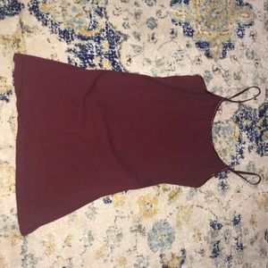 Size L maroon tank top worn once